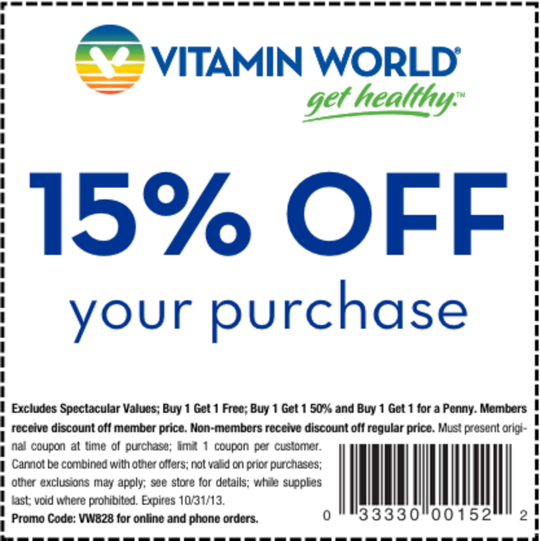 Vitamin shoppe discount coupon